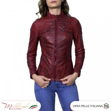 G63 - Giacca Donna in pelle...