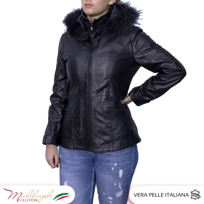 Plow clearly Occasionally  Giacca Donna in Pelle Nera - Spedizioni Gratuita - Made in Italy
