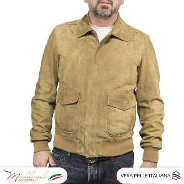 copy of Aviatore uomo in pelle vera di agnello regular fit - 1