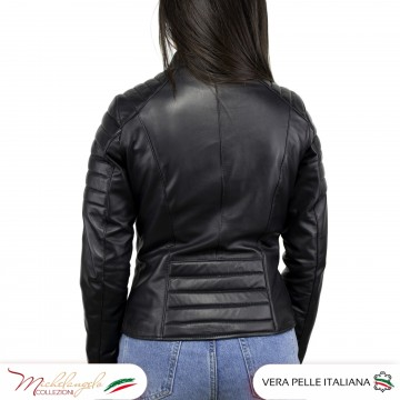 Giacca Donna in Pelle Nera - 020 - 2