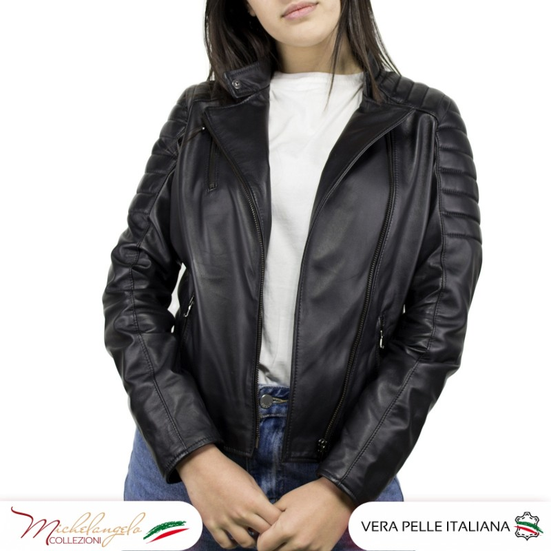 Giacca Donna in Pelle Nera - 020 - 3