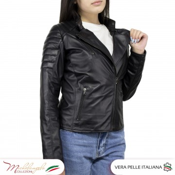 Giacca Donna in Pelle Nera - 020 - 6