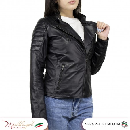 Giacca Donna in Pelle Nera - 020